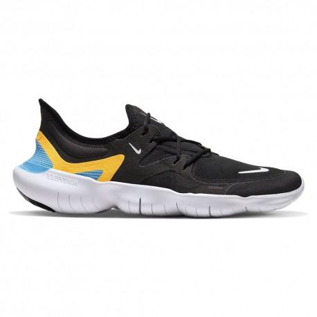Nike Scarpe Running Free Rn 5.0 Nero Bianco Blu Uomo