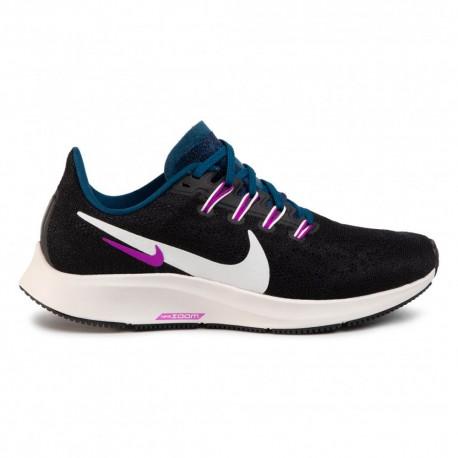Nike Scarpe Running Air Zoom Pegasus 36 Nero Bianco Blu Donna