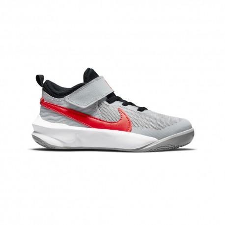 Nike Sneakers Team Hustle Ps Grigio Rosso Bambino