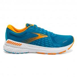 Brooks Scarpe Running Adrenaline Gts 21 Blu Arancio Uomo