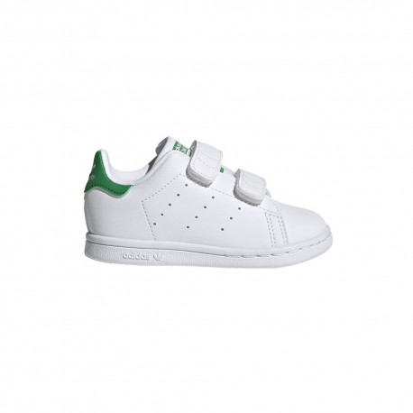 ADIDAS originals sneakers stan smith foundation cf td bianco verde bambino