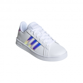 ADIDAS sneakers grand court gs bianco argento bambina