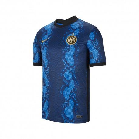 Nike Maglia Maniche Corte Inter Home 21/22 Blu Oro Uomo