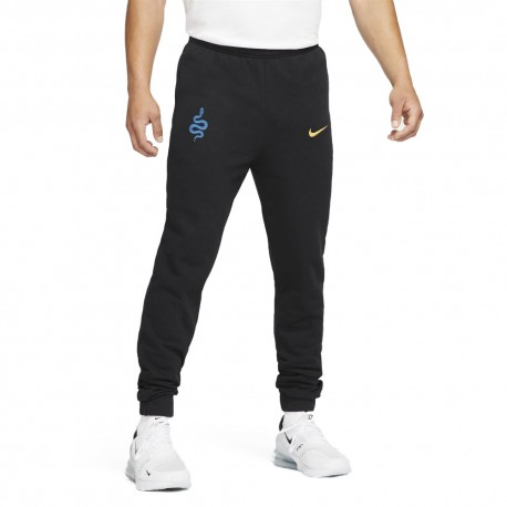 Nike Pantaloni Allenamento Calcio Inter Gfa Flc Nero Oro Uomo