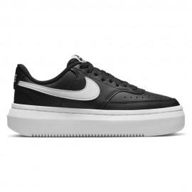 Nike Sneakers Court Vision Alta Nero Bianco Donna