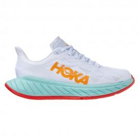 Hoka Scarpe Running Carbon X 2 Bianco Arancio Uomo