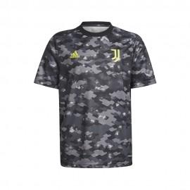 ADIDAS maglia juve pre-match grigio nero bambino