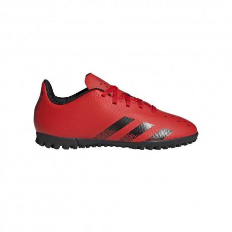 Adidas Scarpe Da Calcio Predator Freak .4 Tf Rosso Nero Bambino
