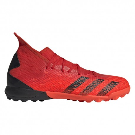 Adidas Scarpe Da Calcio Predator Freak 3. Tf Rosso Nero Uomo