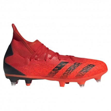 Adidas Scarpe Da Calcio Predator Freak .3 Sg Rosso Nero Uomo
