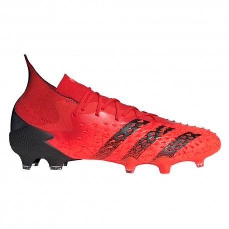 ADIDAS scarpe da calcio predator freak .1 fg rosso nero uomo
