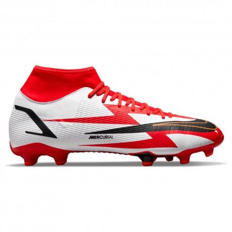 Nike Scarpe Da Calcio Superfly 8 Academy Cr7 Fg/Mg Rosso Bianco Uomo