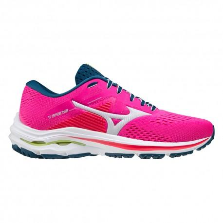 Mizuno Scarpe Running Wave Inspire 17 Rosa Nimbus Cloud Donna