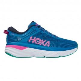 Hoka Scarpe Running Bondi 7 Vallarta Blu Phlox Rosa Donna