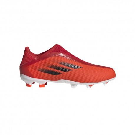 ADIDAS scarpe da calcio x speedflow .3 ll fg rosso nero bambino