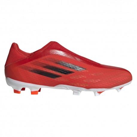 ADIDAS scarpe da calcio x speedflow .3 ll fg rosso nero uomo