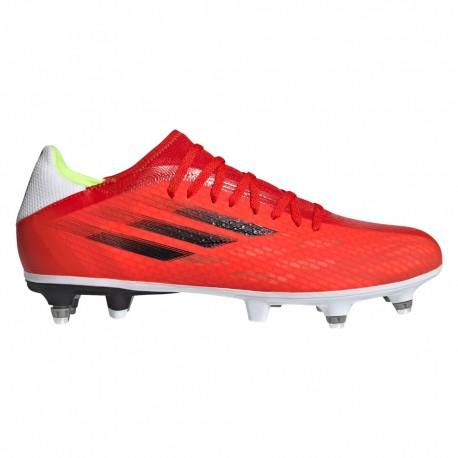 ADIDAS scarpe da calcio x speedflow .3 sg rosso nero uomo
