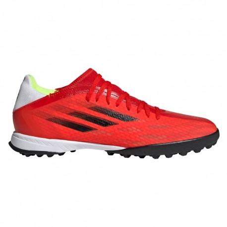 ADIDAS scarpe da calcio x speedflow .3 tf rosso nero uomo