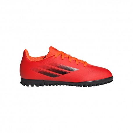 ADIDAS scarpe da calcio x speedflow .4 tf rosso nero bambino