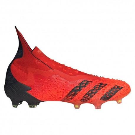 ADIDAS scarpe da calcio predator freak + fg rosso nero uomo