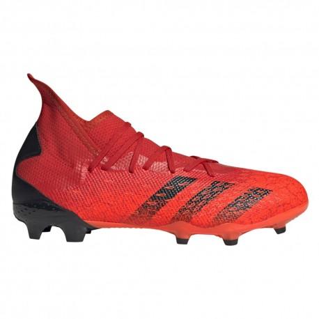 ADIDAS scarpe da calcio predator freak .3 fg rosso nero uomo