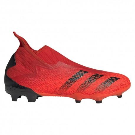 ADIDAS scarpe da calcio predator freak .3 ll fg rosso nero uomo