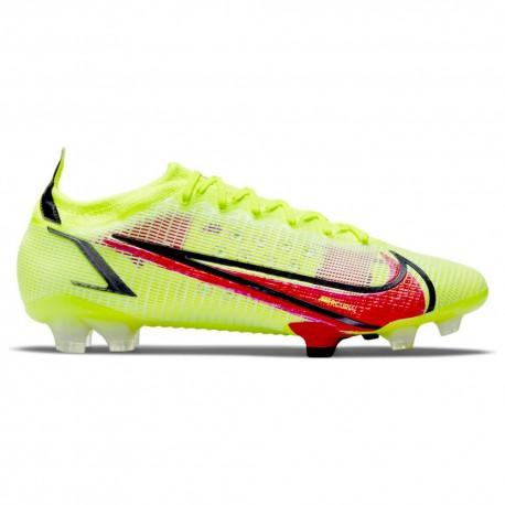 Nike Scarpe Da Calcio Vapor 14 Elite Fg Lime Rosso Uomo
