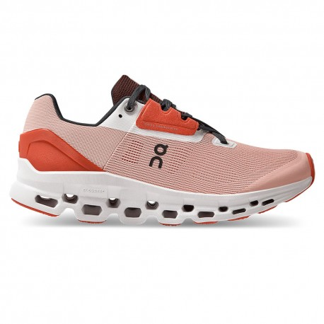On Scarpe Running Cloudstratus Rosa Rosso Donna