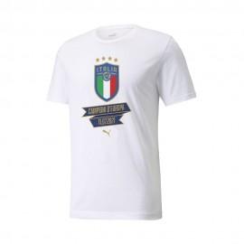 Puma Maglia Mezze Maniche Italia Winner Bianco Blu Uomo