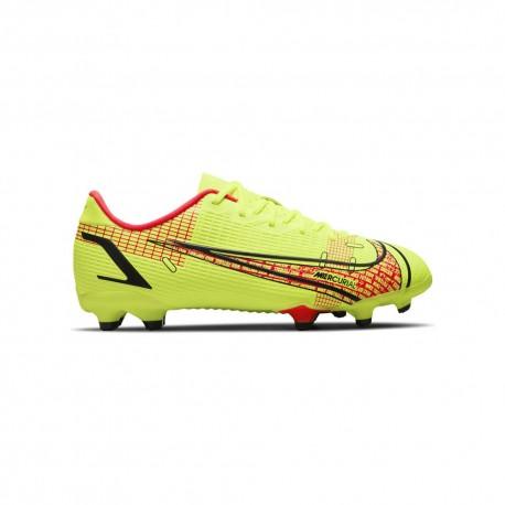 Nike Scarpe Da Calcio Vapor 14 Academy Fg/Mg Lime Rosso Bambino