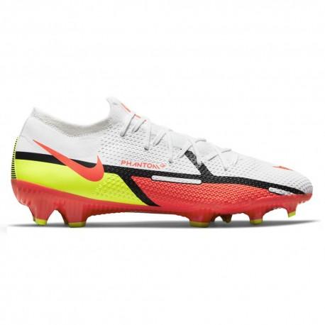 Nike Scarpe Da Calcio Phantom Gt2 Pro Fg Bianco Rosso Uomo