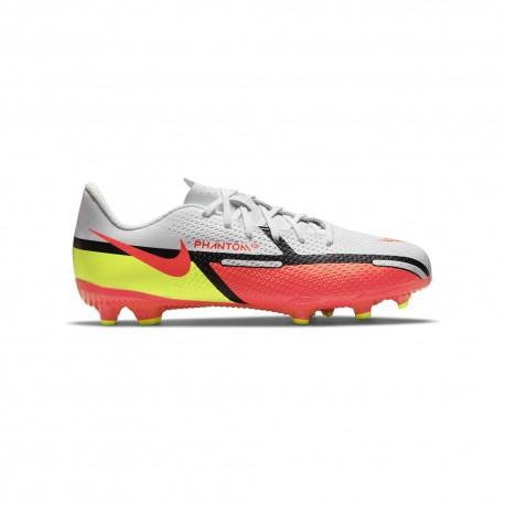 Nike Scarpe Da Calcio Phantom Gt2 Academy Fg/Mg Bianco Rosso Bambino