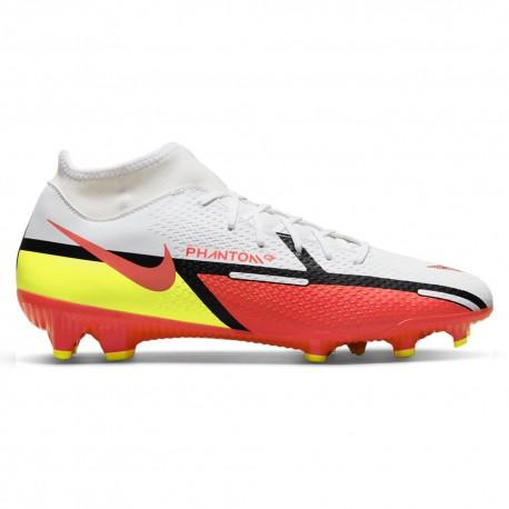 Nike Scarpe Da Calcio Phantom Gt2 Academy Df Fg/Mg Bianco Rosso Uomo