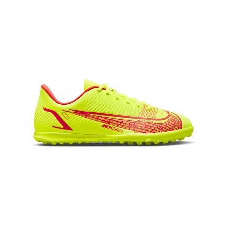 Nike Scarpe Da Calcio Vaport 14 Club Tf Lime Rosso Bambino