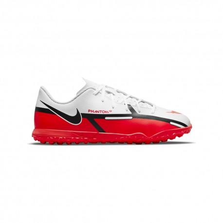 Nike Scarpe Da Calcio Phantom Gt2 Club Tf Bianco Rosso Bambino