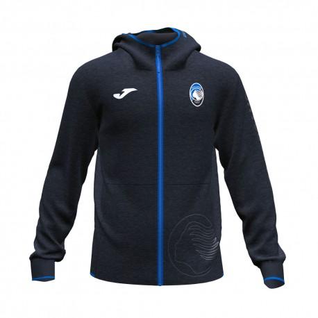 Joma Sport Felpa Calcio Zip Atalanta Free Time Nero Blu Uomo