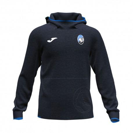 Joma Sport Felpa Calcio Atalanta Free Time Nero Blu Bambino