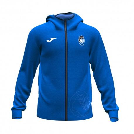 Joma Sport Felpa Calcio Zip Atalanta Free Time Fz Blu Nero Uomo