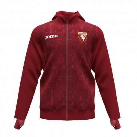 Joma Sport Felpa Calcio Torino Training Granata Bianco Uomo