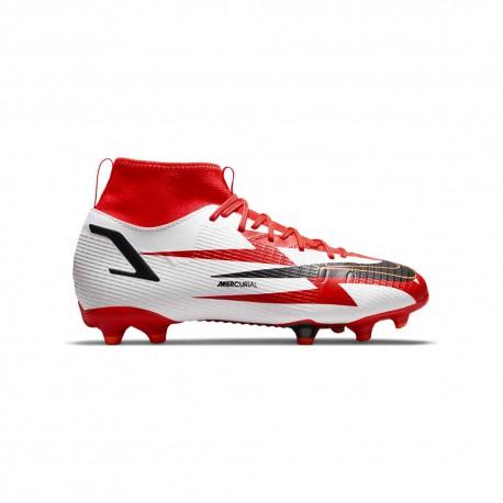 Nike Scarpe Da Calcio Superfly 8 Academy Cr7 Fgmg Rosso Bianco Bambino