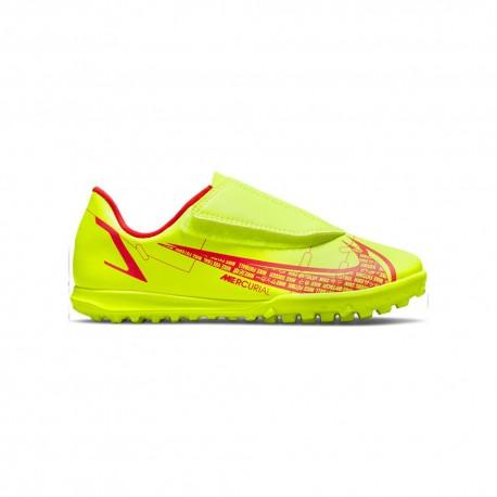 Nike Scarpe Da Calcio Vaport 14 Club Tf Ps Lime Rosso Bambino