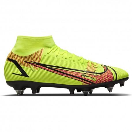 Nike Scarpe Da Calcio Superfly 8 Academy Sg-Pro Ac Lime Rosso Uomo