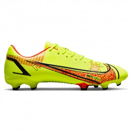 Nike Scarpe Da Calcio Vapor 14 Academy Fg/Mg Lime Rosso Uomo