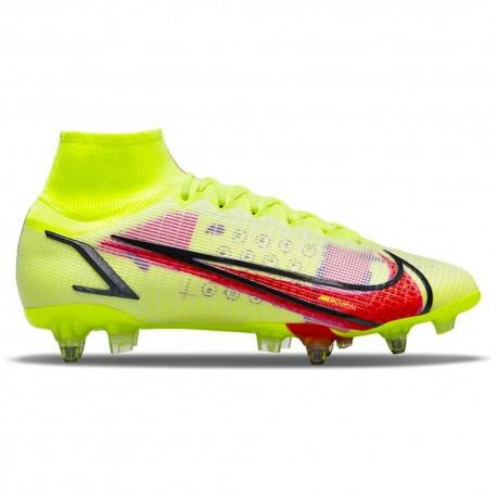 Nike Scarpe Da Calcio Superfly 8 Elite Sg-Pro Ac Lime Rosso Uomo