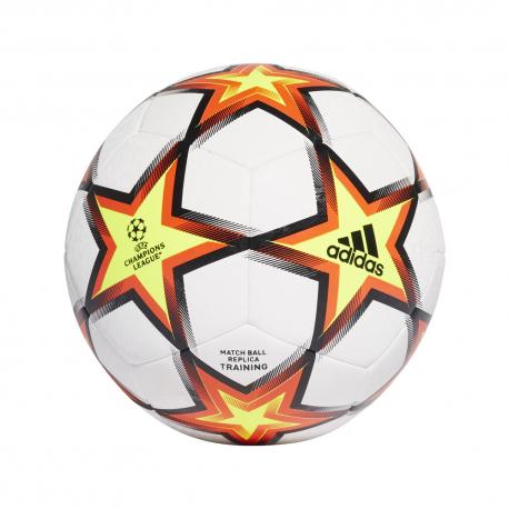 ADIDAS pallone da calcio ucl training pyrostorm bianco rosso