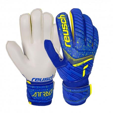 Reusch Guanti Calcio Attrakt Solid Blu Giallo Uomo