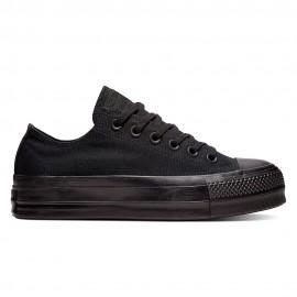 Converse Sneakers All Star Clean Lift Canvas Nero Nero Donna