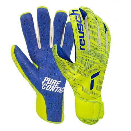 Reusch Guanti Calcio Pure Contact Fusion Giallo Blu Uomo