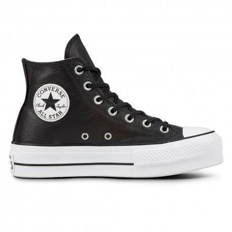 Converse Sneakers All Star Lift Hi Lea Nero Bianco Donna