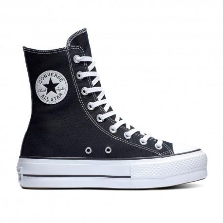 Converse Sneakers All Star Lift Hi Nero Bianco Donna